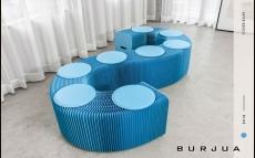 ipaper скамейка 9 местная blue