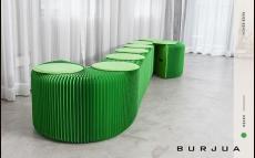 ipaper скамейка 9 местная green